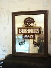 BUSHMILLS WHISKY LARGE BAR PUB MIRROR 53CM HIGH X 42CM WIDE