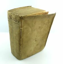 #e5213 ORIGINALE VECCHIO LIBRO 1650 corpus juris canonici-leggi per prete