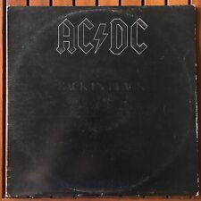 AC/DC BACK IN BLACK VINYL RECORD HARD ROCK ORIGINAL AUSSIE PRESS RARE