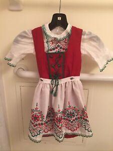 Dirndl 3 Pc Dress By Isola Of Austria Girls European Size 104 / Size 3-4-5 New