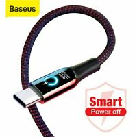 Baseus 3A USB Type C Charger Cable Smart Fast Charging Cord for Google Samsung