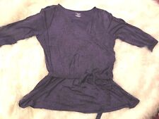 Lane Bryant size 22/24 Ladies Knit Top Purple Black animal print Cold Shoulder
