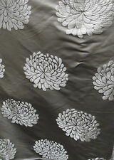 "40 Metres Designer Chocolate Floral Damask Brocatelle Fabric 60"" Wide"