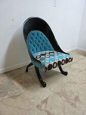 Funky Hollywood Regency Style Modern Scoop Back Fireside Lounge Club Chair B