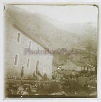 Francia Montagne Casa 1927 Foto Stereo Placca Da Lente Vintage