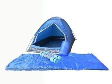 2 Person Camping Tent Dome Shape With 2 Sleeping bags 2 Mats 4 Led Tents New