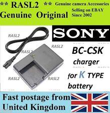 Genuine Sony Charger BC-CSK DSC-W180 W190 W370 S980 S950 S750 S780 MHS-CM5 PM1 5