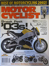 Motorcyclist Magazine October 2002 BMW R1200CL Buell XB9S Victory Vegas Cruiser