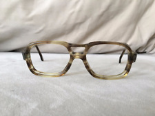 American Optical Mad Men Era smokey gray & clear w/ metal details at the temples