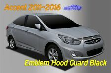 Bonnet Hood Guard Black Garnish Deflector 1P Emblem for Hyundai ACCENT 2011~2016