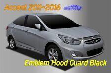Bonnet Hood Guard Black Garnish Deflector 1P Emblem for Hyundai ACCENT 2011~2016