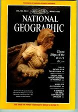 NATIONAL GEOGRAPHIC MAGAZINE MARCH 1983 WITH MAP GHOST SHIPS WAR 1812