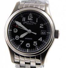 Armand Nicolet Uhr A9090A2-NR-M9060 Automatik ETA2846 Edelstahl silber schwarz