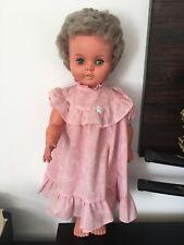 "Large 1960 / 70s  Baby / Toddler Doll ~ 25 "" Vintage Vinyl Pram Doll"