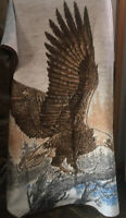 """Biederlack Blanket Eagle MADE IN USA EXCELLENT CONDITION AUTHENTIC 71"""" X 53"""""""
