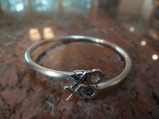Custom X & O's Sterling Silver ByPass Bangle Bracelet