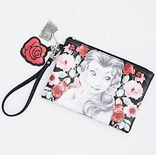 Disney Beauty & The Beast Belle Rose Faux Leather Clutch Wristlet Purse Gift NWT