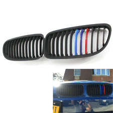 Front Matte Black M-Color Grille Grilles for BMW E90 2009-2011