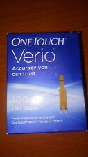 100 One Touch Verio Diabetic Test Strips 4/2018 Ships Free. Retail Box Dents