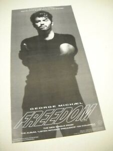 GEORGE MICHAEL I Won't Let You Down...Have Faith... 1990 Promo trade advert