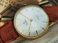 BOSTOL SOLID GOLD 18k (0,750) PESEUX 330 Oversize Gis Size Watch Rare Oro pieno