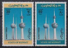Kuwait 1977 ** Mi.733/34 Bauwerke Buildings Wassertürme Water towers