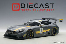 AUTOART 81530 MERCEDES-AMG GT3 PRESENTATION CAR, GREY, COMPOSITE  1:18TH SCALE