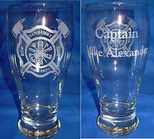 Personalized Engraved Fireman, Firefighter Pilsner