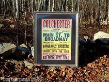 Vintage Original 1953 Movie Theatre Colchester Connecticut FRAMED POSTER CT Conn