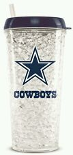 NFL Dallas Cowboys Crystal Freezer Travel Tumbler Mug - (16oz) w/Straw
