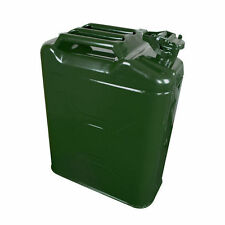 MILITARY GREEN JERRY CAN 5 GALLON RACING STEEL FUEL GAS TANK CONTAINER W SPOUT