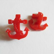 15 Anchor Design Special Shape Craft Project Sew On Buttons 16mm Red G74