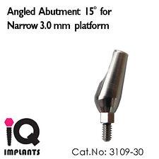10 Angled Abutment 15º for Narrow 3.0mm Platform Dental Implant Lab Prosthetic