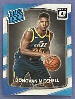 2017-18 Donruss Optic Donovan Mitchell Rated Rookie RC #188 Utah Jazz