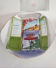 Vietri serving bowl multicolor scene of The Italian Riviera very large bowl made