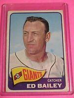 1965 TOPPS #559 ED BAILEY SAN FRANCISCO GIANTS SP VG (crease)