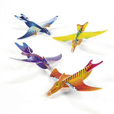 24 Dinosaur GLIDERS planes jet BIRTHDAY Party Favors T Rex Paleontologists