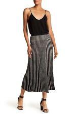 Helmut Lang Womens Skirt Pinstripe Midi Black Beige Straight Long M NWT $620
