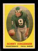 1958 TOPPS #90 SONNY JURGENSEN VGEX (RC) EAGLES HOF *XR26756