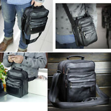 Men's Leather Messenger Shoulder Crossbody Bags Satchel Small Handbag Tablet Bag