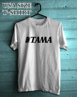 New TAMA Drums Logo Men/'s Black T-Shirt Size S to 3XL