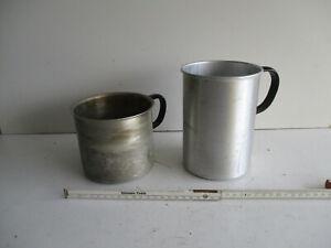 KONVOLUT - 2  Alutöpfe - Vintage - Milchtopf - Aluminium - Dekoration -