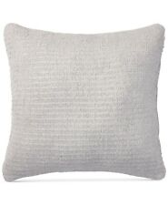 """Lauren Ralph Lauren Alene Ribbon-Knit 18"""" Cotton Feather Pillow - Light Grey"""
