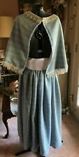 Civil War Blue Woven Drawstring Skirt & Capelet Costume Os reg/plus