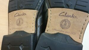CLARKS MENS LEATHER BROWN BOOTS SIZE UK 10G / EU 44