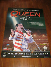 Manifesto QUEEN LIVE IN BUDAPEST FREDDY MERCURY  BL2