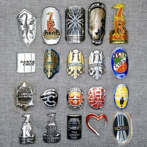 Metal Head Badge Bike BMX Decals Bicycle Fixed Gear Tube Frame Stickers