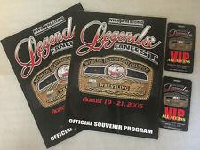 NWA WRESTLING LEGENDS FANFEST SIGNED 2 PROGRAMS! 5 SIGNATURES! + 2 VIP PASSES