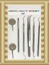 Dental Tartar Calculus Plaque Remover Tooth Scraper,Scaler Mirrors Set   6 pc