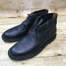 Men Polo Ralph Lauren Shoe Size 9 M Oxford Black Leather Chukka Boots